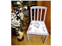 Stunning Vintage French Cottage Shabby Chic Flowers Chair - Free Delivery