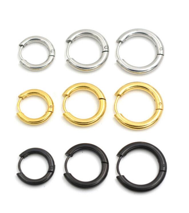 7-20mm Gold Stainless Steel Ear Helix Hoop Huggie Stud Sleep