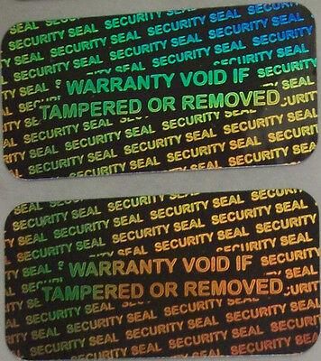 100 Security Seal Hologram Tamper Evident Warranty Labels Stickers Labels