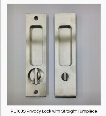 Linnea Privacy Pocket Door Lock PL-160S-ST-P-SSS Square Hardware