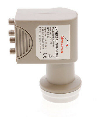 KU Band LNB Quad 0.1dB Universal Linear 4 Port HD Ready Digital Satellite LNBF