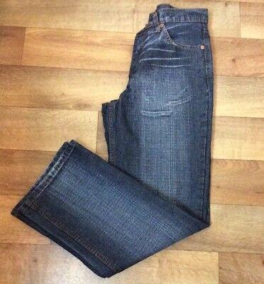 Jag Jeans Womens W 28 Blue Denim Straight Leg Boho Vintage Festival