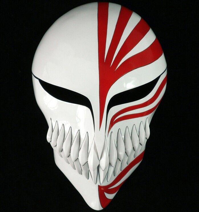New BLEACH Kurosaki Ichigo Cosplay Mask Makeup dance Role play mask Red Black