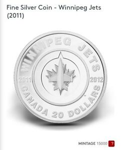 Fine Silver Coin- Winnipeg Jets (2011)