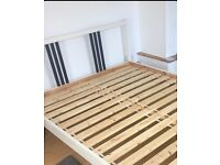 Solid pine double bed base VIRTUALLY NEW