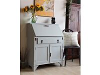 Lovely Small Vintage Retro Shabby Chic Painted Bureau Desk. We deliver