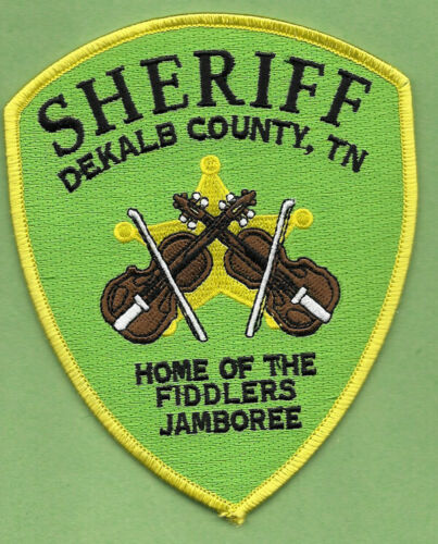 DEKALB COUNTY TENN TN SHERIFF DEPT HOME OF THE FIDDLERS JAMBOREE DC SO SD