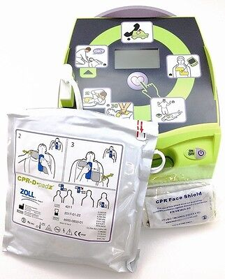 New Zoll Aed Plus Automated External Defib. Wpads Batteries Carry Case