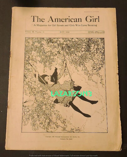 THE AMERICAN GIRL 1920 GIRL SCOUT SCOUTING MAGAZINE