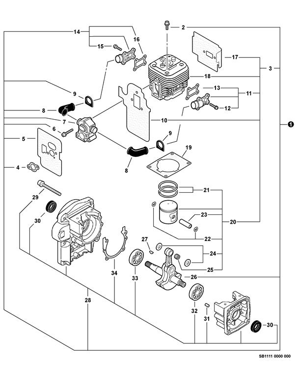 P021045170 Genuine Echo Piston Kit Pb 500t Pb 500h Eb508rt
