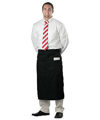 1 new black apron premium apron commercial bistro apron spun polyester