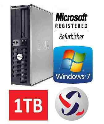 Dell Windows 7 Desktop Computer 1TB HDD | 8GB RAM | Wifi | 3.0GHz Processor