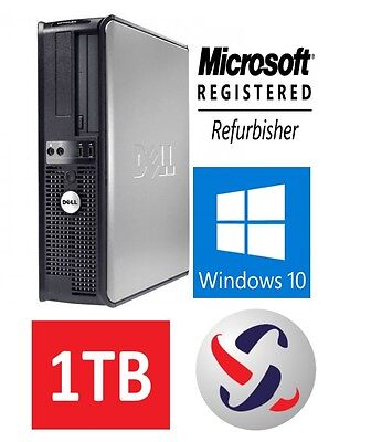 Dell Windows 10 Desktop Computer 1Tb Hdd   8Gb Ram   Wifi   3 0Ghz Processor