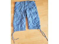 """Men waist 28"""" 883 police jean short in blue"""