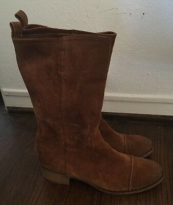 J CREW RYDER Suede Boots Pull On Size 8 Women's Brown
