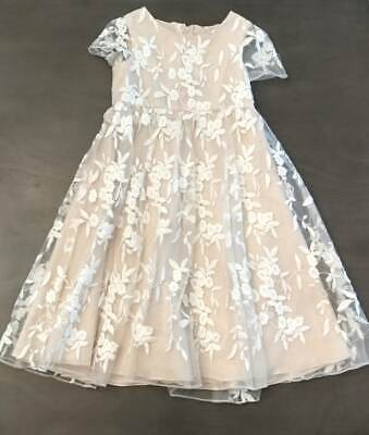 Ivory Flower Girl Headpiece (Girls Sz 6 David's Bridal Embroidered Flower Girl Dress w/ head pieces,)