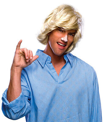 80s Halloween Costumes Guys (BLONDE SURFER SURF DUDE 1970S 70'S 80'S ADULT MENS MALE COSTUME WIG HANDSOME)
