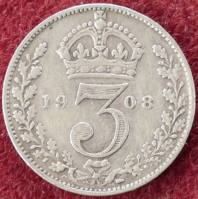 GB Threepence 1908 (D0804)