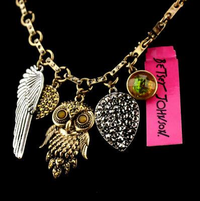 Fashion Betsey Johnson Jewelry Pendant Pendant animal owl Sweater chain necklace