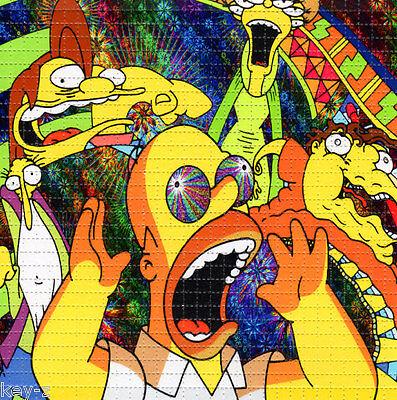 SIMPSONS TRIP Homer BLOTTER ART perforated psychedelic LSD Acid Art paper sheet