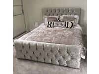 Brand new crushed velvet bed frames £160