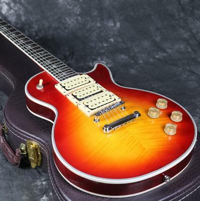 ACE Frehley Signature Electric Guitar Figured Maple TOp Cherry Burst Grover Top