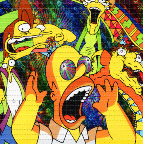 The SIMPSONS BLOTTER ART perforated sheet paper psychedelic art