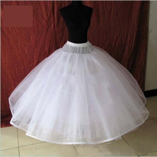 Bridal Petticoat 8 Layer No Hoops Crinoline Long Gown Wedding Dress Underskirt