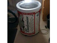 Budweiser fridge man cave beer