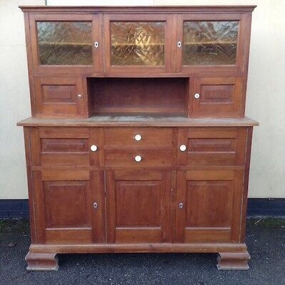 Divine Vintage Pine Kitchen Utility Dining Hall Toy Cafe Cupboard  Country Chic