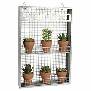 """Garden"" Metal Wall Planter, New"