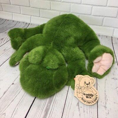 Vintage Cuddle Wit Large Green Frog Plush Stuffed (Vintage Green Frog)