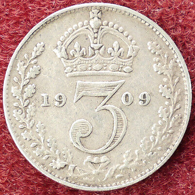 GB Threepence 1909 (D0205)
