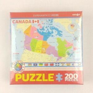 EG62000797 Eurographics Puzzle 200 Pc Map of Canada