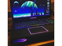 Alienware Mx14 laptop with Nivada graphics card. Excellent, powerful gaming laptop