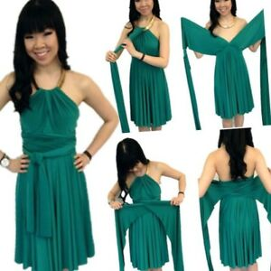 Infinity dress. (Emerald green)