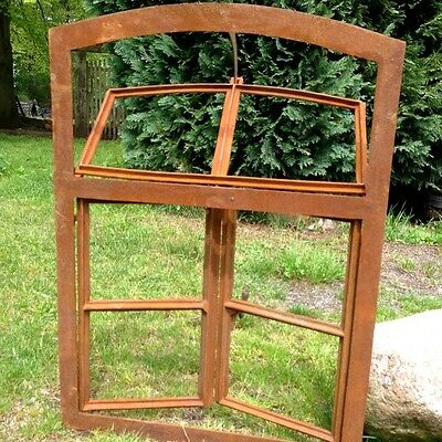 Eisenfenster- Oberlicht und Doppelflügel zu Öffnen, Stall Fenster antik-ländlich
