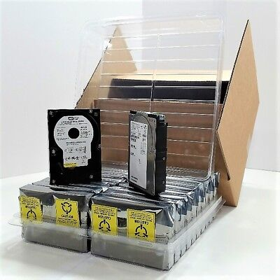 3.5 Hard Disk Drive Clamshell Packaging 20-pack Shipping Storage Case Box Kit