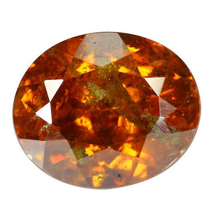 3.15 cts Rare Natural Oval-cut Orange VVS Sphalerite (Spain)