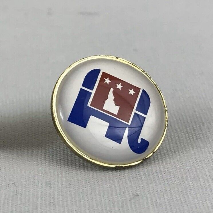 Idaho Republican Elephant Lapel Pin Political Affiliate Vintage