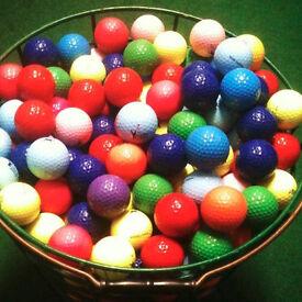 500 Coloured Golf Balls + Free Golf Ticket
