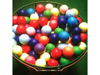 500 Coloured Golf Balls + Free Golf Ticket