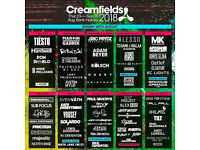 2x Creamfields 2 day camping tickets for sale