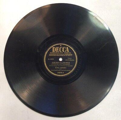 Golden Earrings   Ballerina 78Rpm 10  Record Bing Cosby Trotter Shopvinyls Com