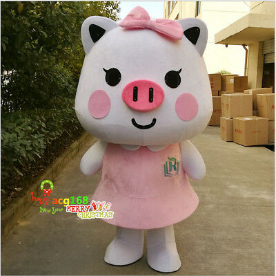 2019 Happy Pig Mascot Costume Fmaily Style Cosplay Funny Good Smile Life (Best Cosplay Costumes 2019)