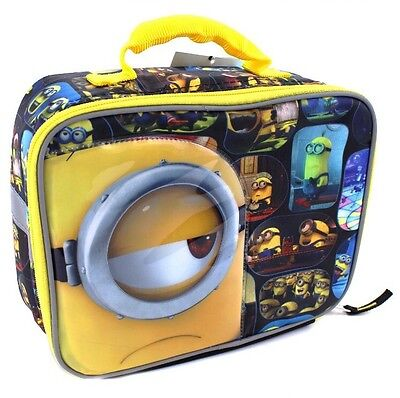 Despicable Me Minions Soft Lunch Box Minions w/Black Back FREE SHIPPING
