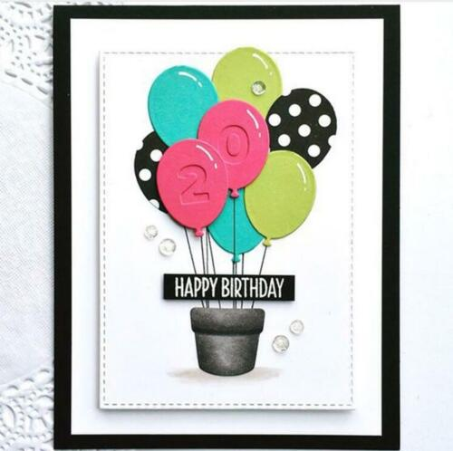 Lovely Balloon Metal Dies Cutting Carbon Steel For Scrapbooking GreetingCardsLD