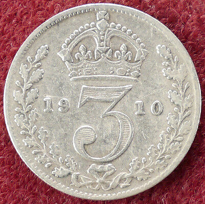 GB Threepence 1910 (D0804)