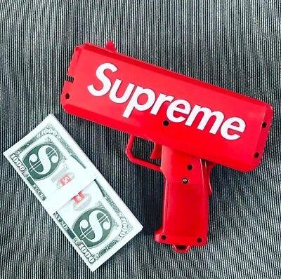 Brand New Supreme SS17 Red Box Logo Cash Cannon Money Gun 100% Authentic New