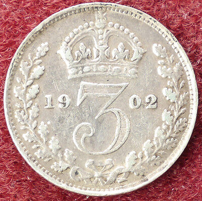 GB Threepence 1902 (D0205)